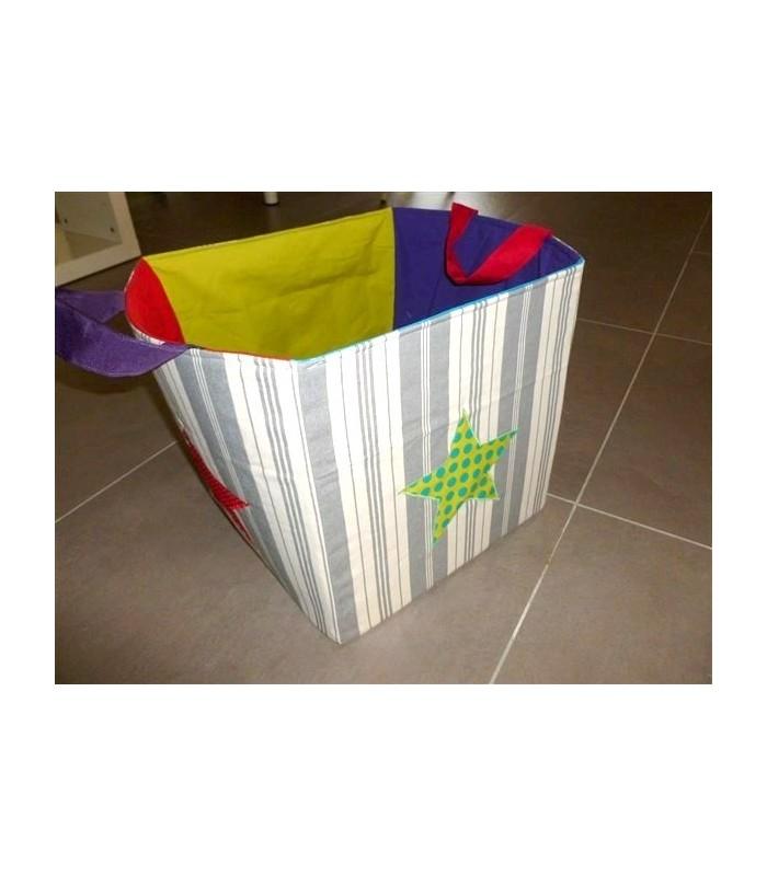 """Cube de rangement en tissu """"Toile à matelas"""""""